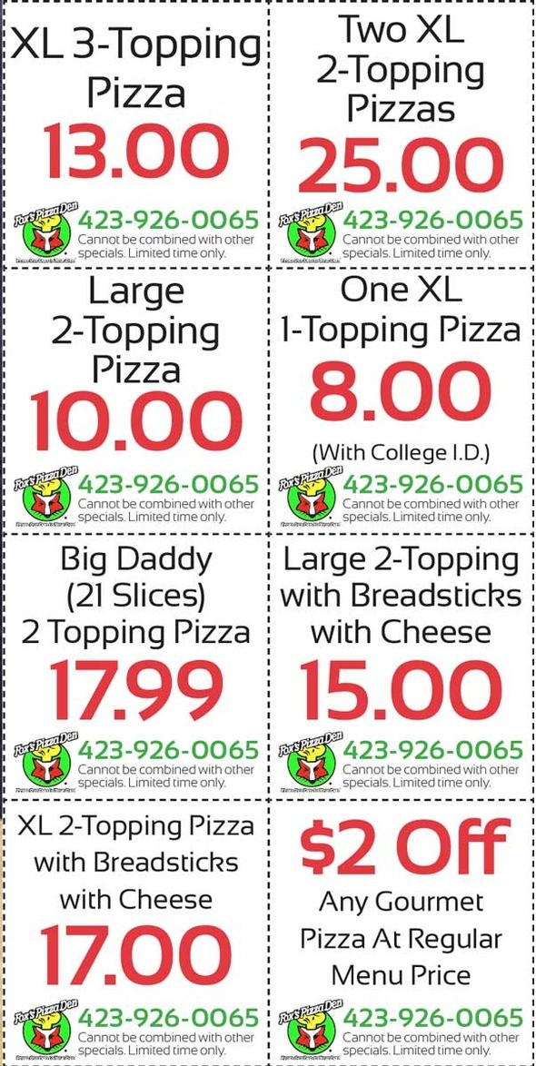 City pizza coupons