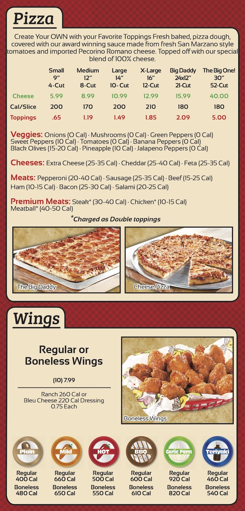 Wings and Pizza